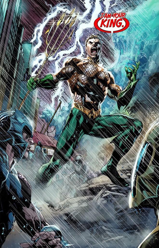 Sức mạnh của Aquaman là vô cùng bá đạo.