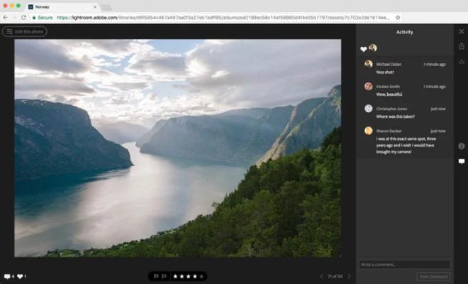 Adobe còn chú trọng đến cả phiên bản Lightroom CC dành cho Web nữa.
