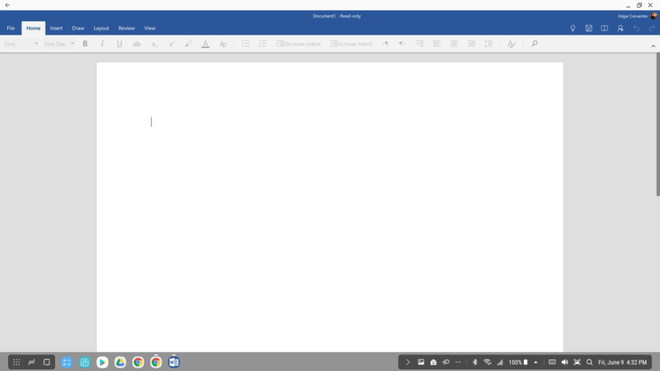 Ứng dụng Microsoft Word quen thuộc đã được tối ưu hóa cho DeX.