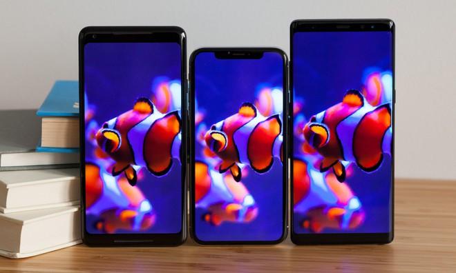 So sánh khả năng hiển thị trên màn hình OLED của Pixel 2 XL, iPhone X, Galaxy Note8.