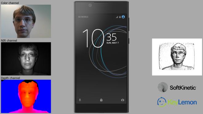 Demo tính năng nhận diện gương mặt trên smartphone Xperia.