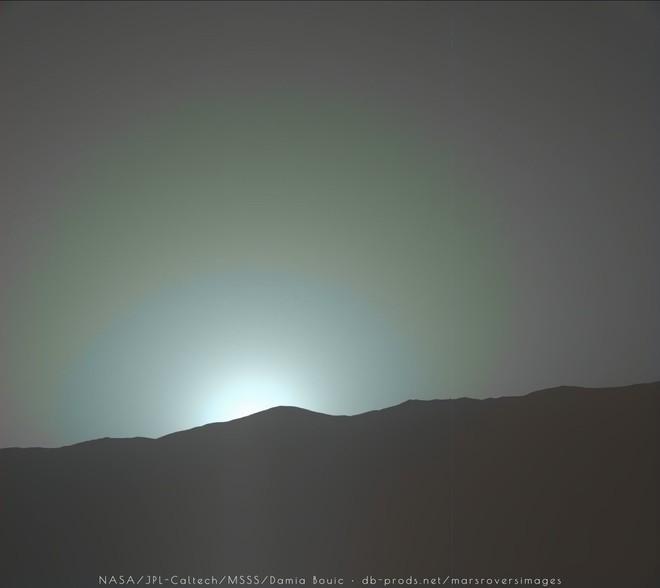 Hoàng hôn trên Sao Hỏa.