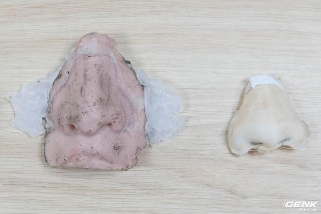 Mũi được làm bằng silicon