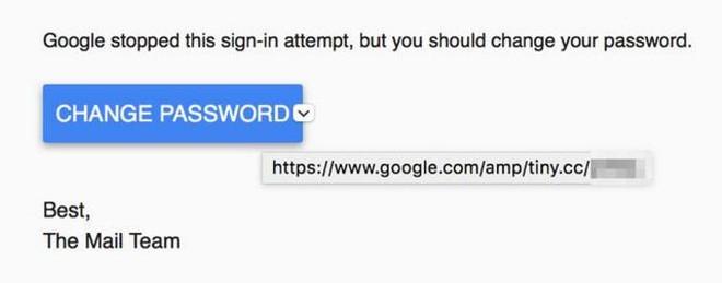 Di chuột vào sẽ thấy địa chỉ dạng Google.com/amp trông rất an toàn