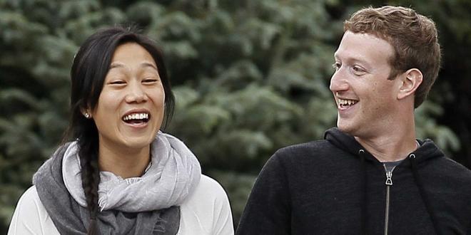 Chân dung ông chủ Facebook và người vợ Priscilla Chan.