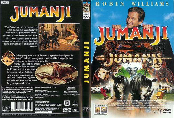 Bìa đĩa phim Jumanji