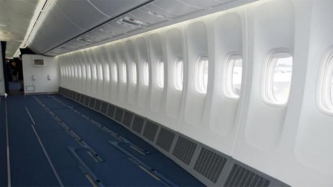 Hình ảnh minh họa cho khoảng trống nhờ dẹp hết ghế trên máy bay