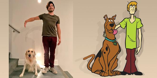 Markiplier muốn biến chính mình và chú chó Chica thành cặp đôi huyền thoại Shaggy và Scooby-Doo