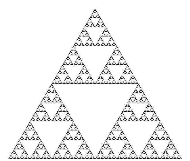 Tam giác Sierpinski, hình ảnh thường thấy mỗi khi nhắc tới phương pháp đệ quy.
