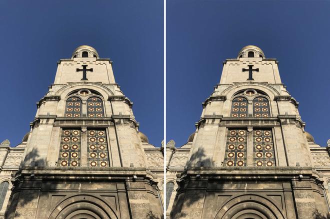 Định dạng HEIF (bên trái) nặng 1,8MB, định dạng JPEG (bên phải) nặng 3,4MB.