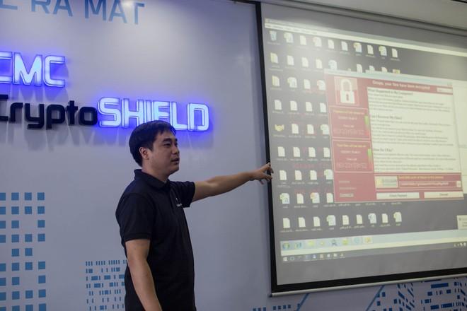 Trình diễn trực tiếp khả năng của CMC CryptoShield bằng ransomware WannaCry