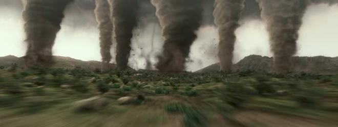 Một cảnh rất ấn tượng trong trailer, tuy rằng không bao giờ có thật: 6 cơn lốc xoáy xuất hiện cùng một lúc.