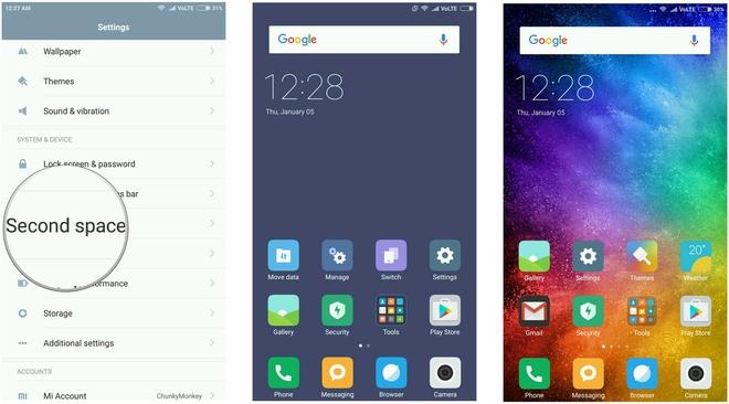 Một số tính năng hữu ích của MIUI: Quick ball, Dual apps, Second space