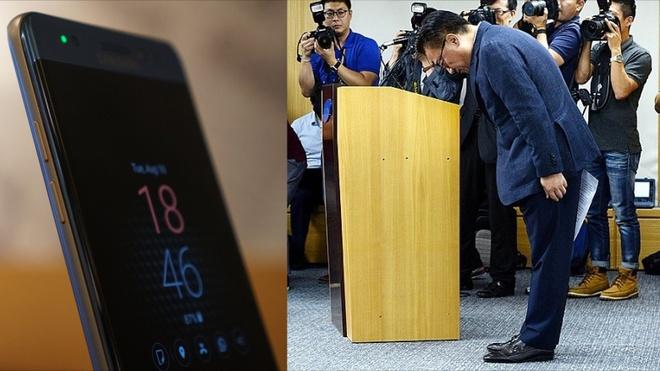 Giám đốc Samsung cúi đầu xin lỗi vì thảm họa Galaxy Note 7