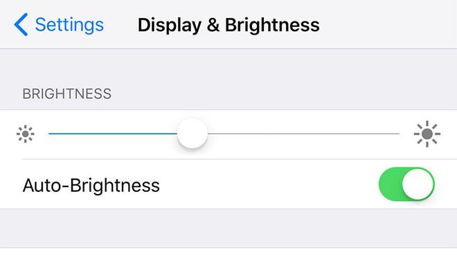 Nếu không có cảm biến ánh sáng, chúng ta cũng sẽ không có tùy chỉnh này trong điện thoại
