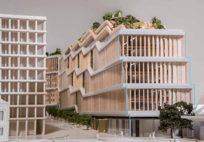 Ở phía Nam của tòa nhà đặt tại London, Google sẽ đặt các thanh gỗ tròn có thể xoay 180 độ để giảm độ chói khi ánh nắng mặt trời chiếu vào văn phòng.