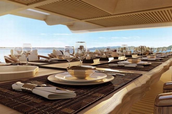 Các hành khách có thể tận hưởng không gian ăn uống sang trọng
