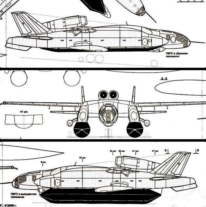 VVA-14 có chiều dài gần 26 m, sải cánh 28,5 m, cao 6,79 m khi có trang bị phao. Các động cơ đẩy tuốc bin Solov'yov D-30M tạo ra lực đẩy 6.800 kg mỗi chiếc. Tải trọng cất cánh tối đa của nó là 52 tấn.