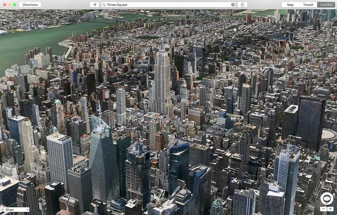 Nhìn thành phố từ trên cao.