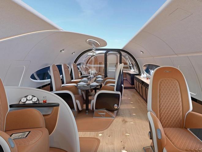 Thiết kế trần mở trong ACJ319neo