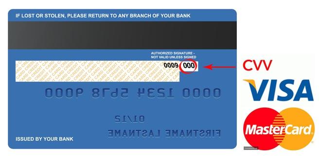 Cẩn thận với mã CVV trên thẻ tín dụng của bạn.