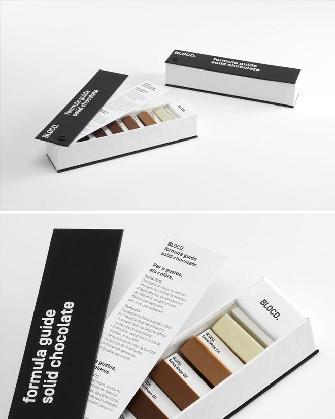 Người yêu màu sắc, đặc biệt là dân thiết kế sẽ đổ ngay khi trông thấy hộp chocolate sắp xếp theo bảng màu pantone