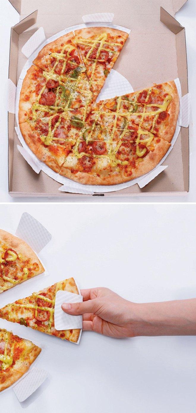 Dù có vẻ tiện lợi, nhưng người hâm mộ pizza chân chính sẽ không thích loại bao bì này