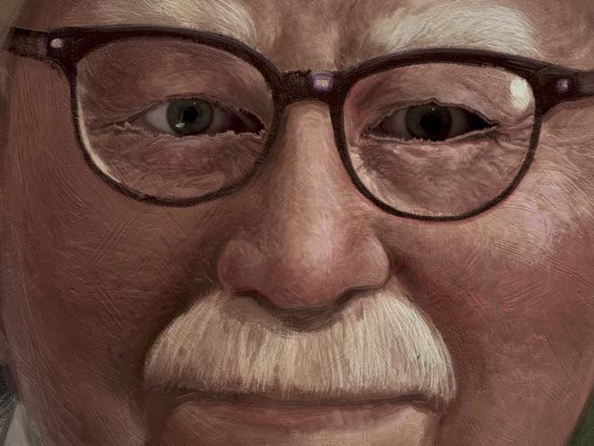 Đôi mắt của Colonel Sanders dõi theo từng hành động của người chơi...
