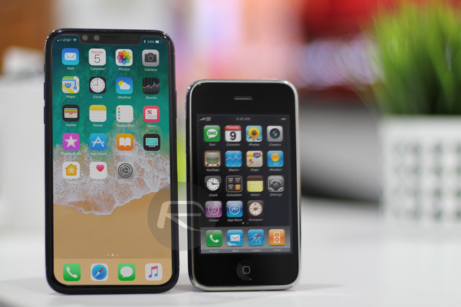 iPhone X Black với iPhone 3G/3Gs