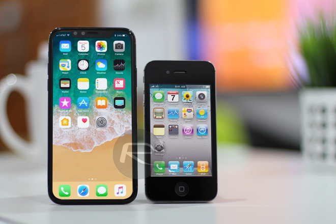 iPhone X Black với iPhone 4/4s