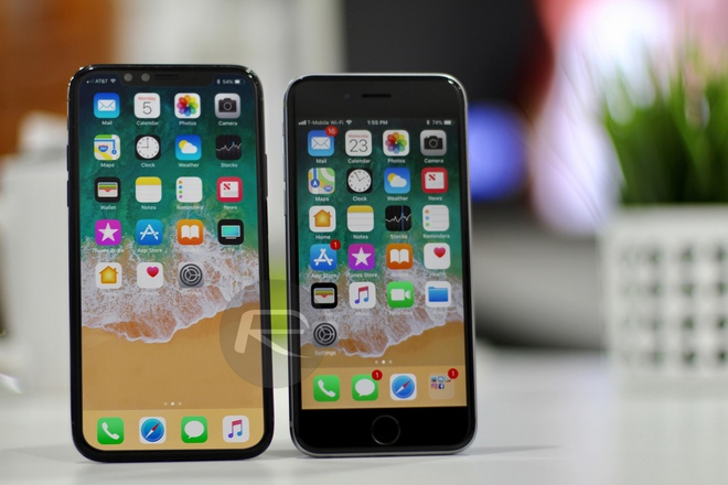 iPhone X Black với iPhone 6/6s/7