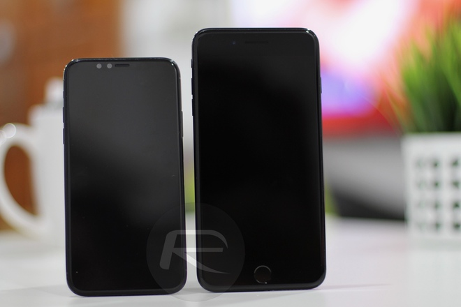 iPhone X Black với iPhone 6/6s/7 Plus