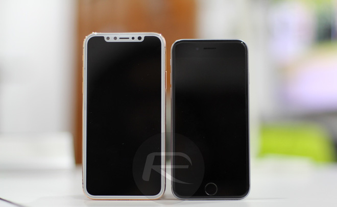 iPhone X Blush Gold với iPhone 6/6s/7