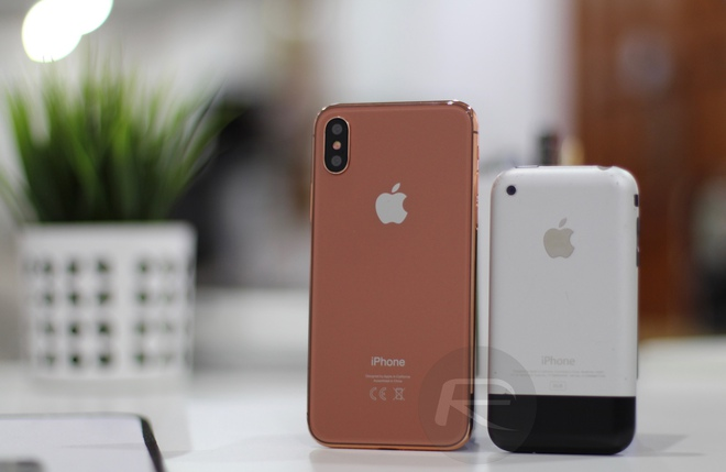 iPhone X Blush Gold với iPhone 2G