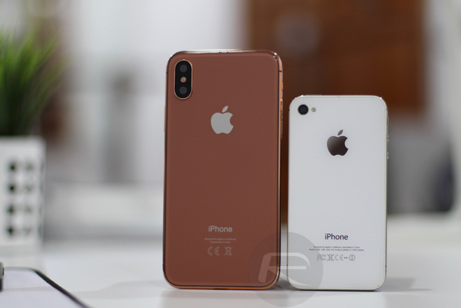 iPhone X Blush Gold với iPhone 4/4s
