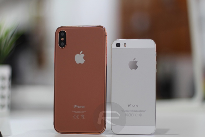 iPhone X Blush Gold với iPhone 5/5s/SE