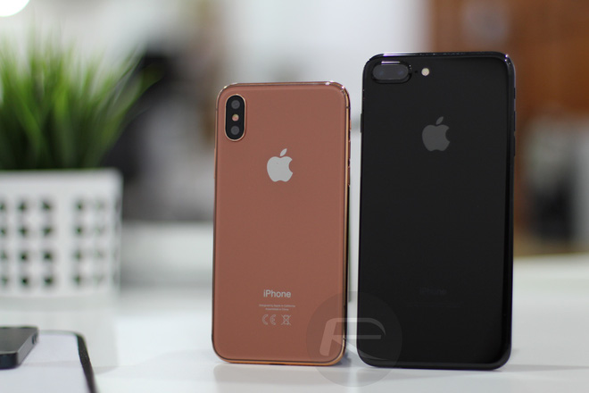 iPhone X Blush Gold với iPhone 6/6s/7 Plus