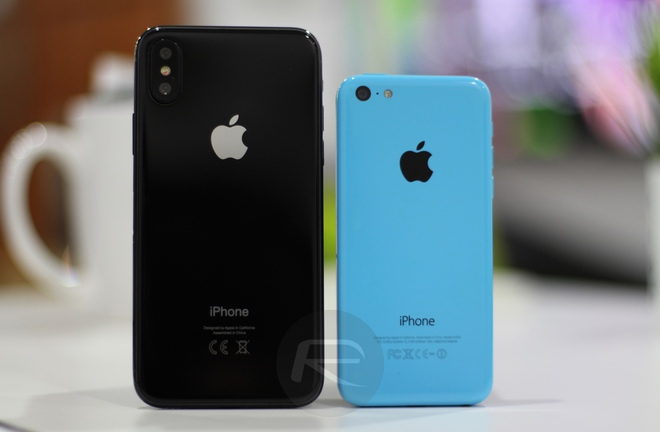 iPhone X Black với iPhone 5c