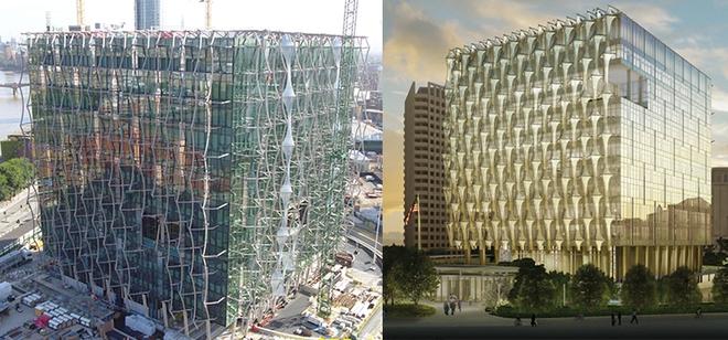 Những hình ảnh đầu tiên từ khi công trình bắt đầu được xây dựng từ năm 2008