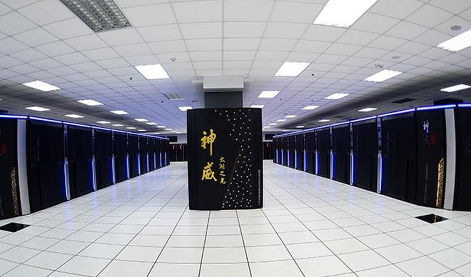 Hệ thống siêu máy tính mạnh nhất hành tinh của Trung Quốc Sunway TaihuLight. Nguồn: Baidu