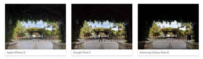 iPhone X so sánh với Google Pixel 2 và Samsung Galaxy Note8