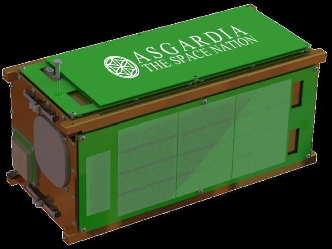 Một ảnh minh họa của vệ tinh Asgardia-1 xây dựng bởi NanoRacks.