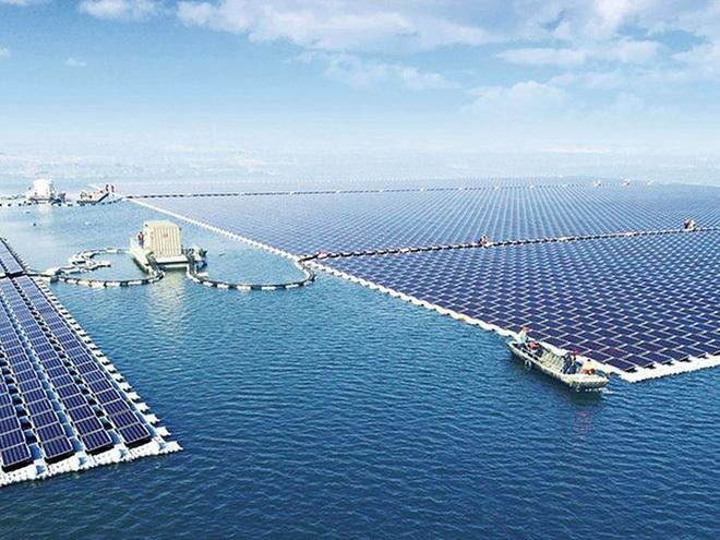 Trang trại năng lượng Mặt trời nổi lớn nhất hành tinh. Ảnh: Sungrow Power Supply