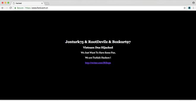 Website Ford Việt Nam bị hacker Thổ Nhĩ Kỳ tấn công - Ảnh 1.