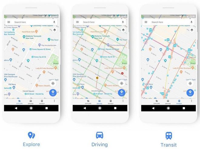 Google Maps vừa được đại tu giao diện, biểu tượng mới, màu sắc mới - Ảnh 2.