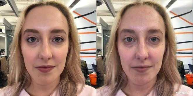 Kara McGrath, phó tổng biên tập mục thời trang và làm đẹp của trang Bustle, đã bị loại bỏ hoàn toàn lớp trang điểm trên mặt khi thử dùng ứng dụng này