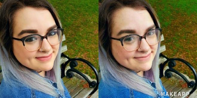 Cô gái cá tính này dường như đã bị MakeApp xóa sạch lớp trang điểm...