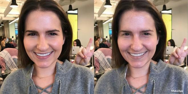 Chị Hayley Saltzman cũng chia sẻ mình đã bị MakeApp làm cho làn da mặt trở nên tồi tệ hơn, mặc dù chị cũng có vài vết thâm do mụn nhưng trông không tệ đến như trong ảnh
