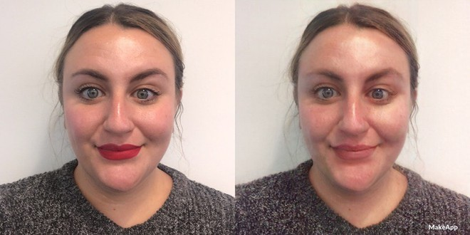 MakeApp sẽ khiến các chị em đang trang điểm xinh đẹp bỗng nhiên trở thành... mặt mộc