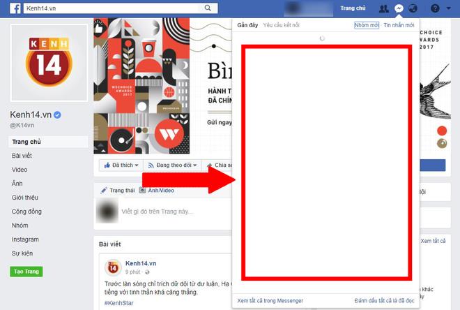 Facebook Messenger lại vừa gặp sự cố, khung chat trắng xóa, netizen Việt đồng loạt kêu trời - Ảnh 1.